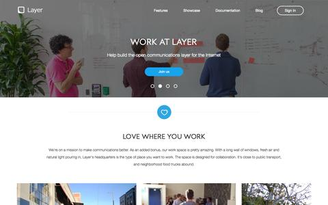 Screenshot of Jobs Page layer.com - Layer - Jobs - captured Dec. 17, 2014