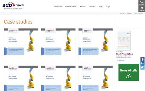 Screenshot of Case Studies Page bcdtravel.com - Case Studies | Italy - captured Jan. 4, 2017