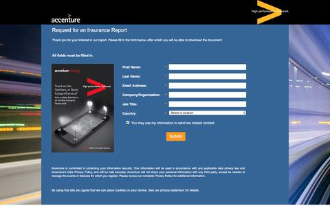 Screenshot of Landing Page accenture.com captured Oct. 29, 2016