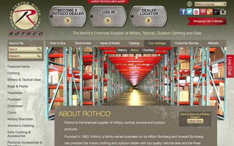 Screenshot of About Page rothco.com - About Rothco - captured Oct. 26, 2014