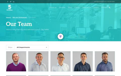 Screenshot of Team Page stickyeyes.com - Our Team | Stickyeyes - captured Sept. 21, 2018