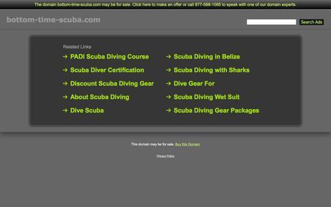 Screenshot of Home Page bottom-time-scuba.com - Bottom-Time-Scuba.com - captured Feb. 8, 2016