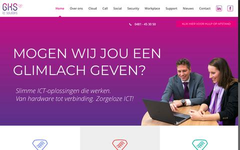 Screenshot of Home Page gks.nl - GKS ICT Solutions - Slimme ICT-oplossingen die werken - captured Sept. 25, 2018