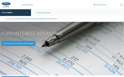 Ford Interest Advantage Details | Investor Center | Official Site of Ford Credit