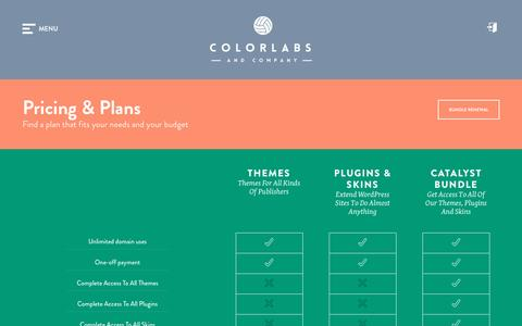 Screenshot of Pricing Page colorlabsproject.com - Pricing & Plans | Colorlabs & Company - captured March 31, 2016
