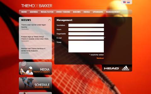 Screenshot of Team Page thiemodebakker.com - Management - Thiemo de Bakker - captured April 1, 2017