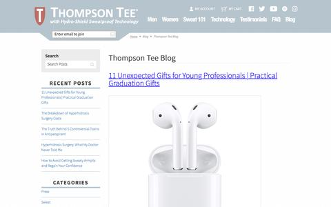 Screenshot of Blog thompsontee.com - Thompson Tee Blog - captured May 4, 2017
