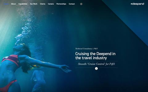 Screenshot of Home Page deepend.com.au - Deepend | Digital Agency Sydney, Melbourne & Brisbane | Design & Strategy - captured May 8, 2019