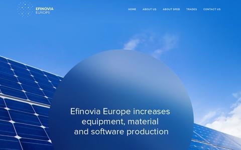 Screenshot of Home Page efinovia.com - Efinovia Europe | Efinovia Europe - captured Jan. 26, 2016