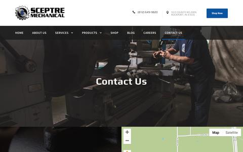 Screenshot of Contact Page sceptremech.com - Contact Us | Sceptre Mechanical - captured Oct. 2, 2018