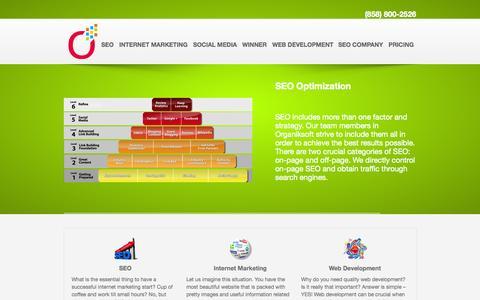 Screenshot of Home Page organiksoft.com - SEO Social Media Internet Marketing | Link Building Services | Organiksoft - captured Sept. 23, 2014