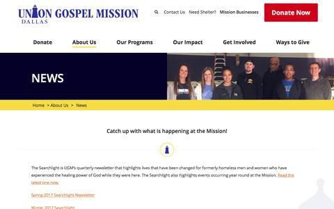 Screenshot of Press Page ugmdallas.org - News - UGM Dallas - captured Oct. 26, 2017