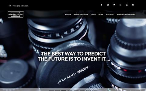 Screenshot of Home Page panavision.com - Panavision - captured Dec. 7, 2015