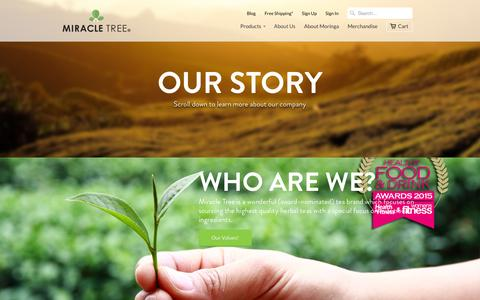 Screenshot of About Page miracletree.co - About Us                           | Miracle Tree - captured Oct. 2, 2014