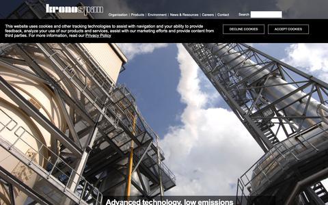 Screenshot of Home Page kronospan-worldwide.com - Wood based panels manufacturer  |  Kronospan Worldwide - captured Nov. 13, 2018