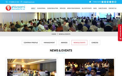 News and Events – Shivaami Cloud Services Pvt. Ltd.