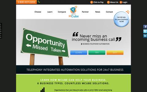 Screenshot of Support Page vmctechnologies.com - MCube help your Business - Cloud Telephony Solution - captured Dec. 19, 2016