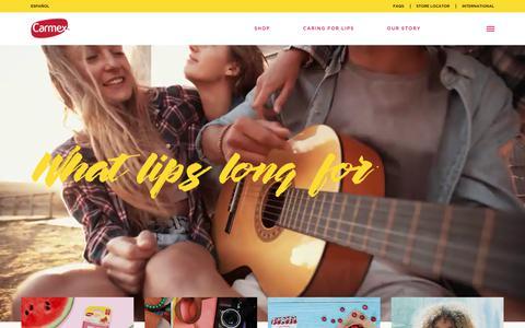 Screenshot of Home Page mycarmex.com - Home - Carmex - captured Sept. 27, 2018