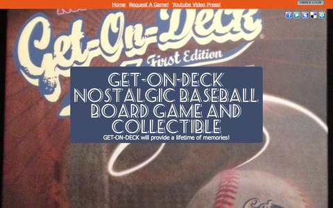 Screenshot of Home Page get-on-deck.com - GET-ON-DECK Nostalgic Baseball Board Game and Collectible - captured Oct. 3, 2014
