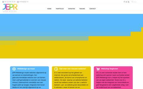 Screenshot of Home Page jepr.nl - JEPR Webdesign - captured Oct. 4, 2014