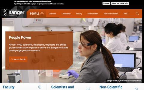 Screenshot of Team Page sanger.ac.uk - Our People | Sanger Institute - captured Nov. 23, 2016