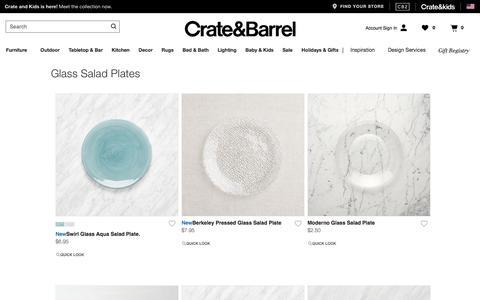 Glass Salad Plates | Crate and Barrel