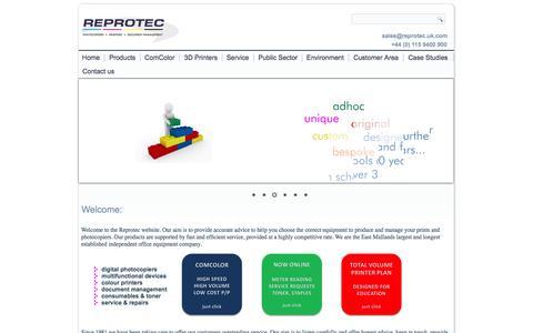 Screenshot of Home Page Case Studies Page Testimonials Page reprotec.uk.com - colour printer,colour photocopiers,colour copiers,mono nottingham,colour printers,photocopier,colour photocopiers,photocopier,copiers - Colour Printers,Colour Photocopiers,Colour Copiers by Reprotec Ltd - captured Oct. 8, 2014