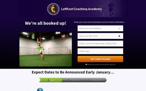 Screenshot of Signup Page leftfootcoaching.com - 4.0.2 Orientation Closed Master - LeftFoot Coaching Academy | Coaching Matters. - captured Nov. 2, 2014