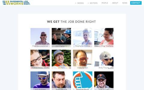 Screenshot of Team Page eworksnw.com - About Environmental Works - captured Nov. 9, 2016