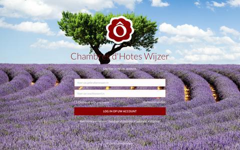 Screenshot of Login Page chambresdhoteswijzer.nl - LogIn - Chambres d'Hôtes en Gites - captured Dec. 7, 2018