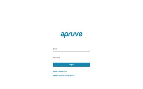 Screenshot of Login Page apruve.com - Log In  | Apruve - captured Feb. 13, 2019