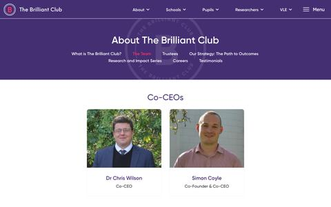 Screenshot of Team Page thebrilliantclub.org - The Team - The Brilliant Club - captured Nov. 6, 2017