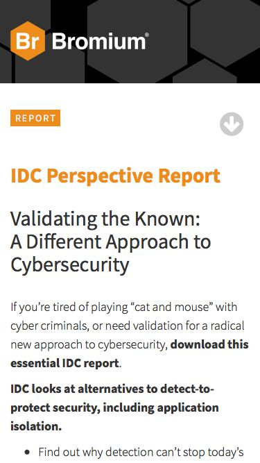 IDC Perspective Report 2017 | Bromium