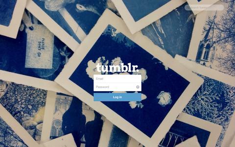 Screenshot of Tumblr Page tumblr.com - Log in | Tumblr - captured Oct. 26, 2014