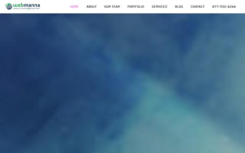 Screenshot of Home Page webmanna.com - WebmannaWebsite Design and Social Marketing company in Jupiter and West Palm - captured Oct. 9, 2014