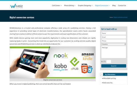 Digital Conversion Services | Digital Conversion Company