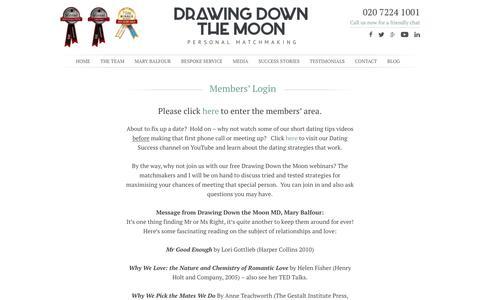 Screenshot of Login Page drawingdownthemoon.co.uk - Drawing Down the Moon members login - captured Feb. 9, 2016