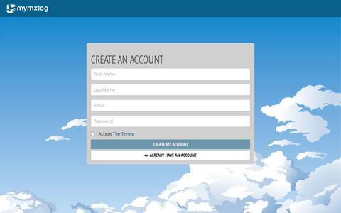 Screenshot of Signup Page mymxlog.com - Signup - captured Sept. 16, 2014