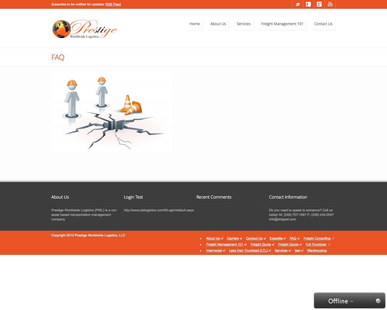 Web Design Example | A page on shippwl com | Crayon