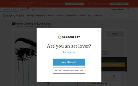 Screenshot of Hours Page saatchiart.com - Saatchi Art: hours Drawing by LOUI JOVER - captured Jan. 8, 2018