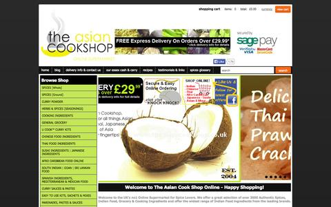 Screenshot of Home Page theasiancookshop.co.uk - Buy Spices, Indian Spices, Indian Food Groceries Online - The Asian Cook Shop - captured Sept. 23, 2014