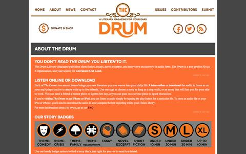 Screenshot of About Page drumlitmag.com - The Drum : Masthead : Kelley Lessard, Contributing Editor - captured Oct. 6, 2014