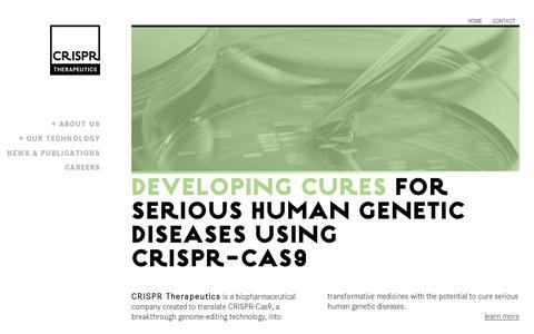 Screenshot of Home Page crisprtx.com - CRISPR - captured July 11, 2014