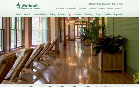 Screenshot of Services Page mohonk.com - Hudson Valley Spa Services | Upstate New York Spa | Mohonk - captured Sept. 24, 2014