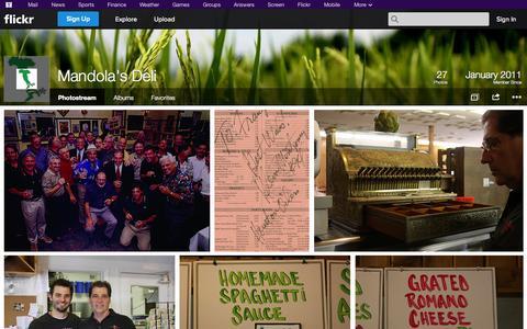 Screenshot of Flickr Page flickr.com - Flickr: Mandola's Deli's Photostream - captured Oct. 23, 2014