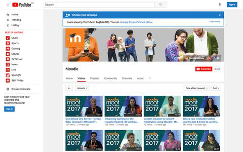 Moodle  - YouTube