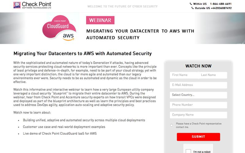 Migrating Your Data Centers to AWS with Automated Security | Check Point Software