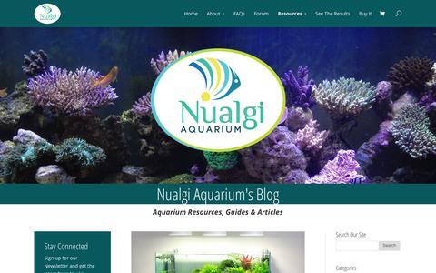 Screenshot of Blog nualgiaquarium.com - Blog - Nualgi Aquarium - captured Sept. 25, 2014
