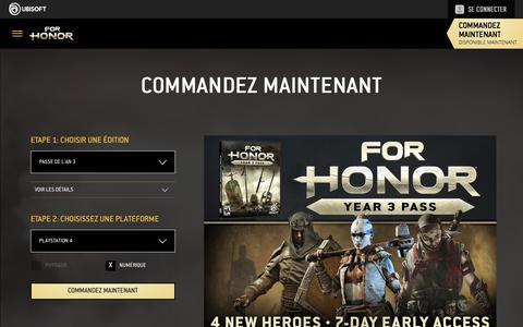 Screenshot of Pricing Page ubisoft.com - For Honor : Commandez maintenant sur PS4, Xbox One, et PC | Ubisoft (CA) - captured Nov. 8, 2019