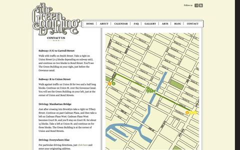 Screenshot of Contact Page Maps & Directions Page thegreenbuildingnyc.com - Contact Us | The Green Building - captured Oct. 25, 2014